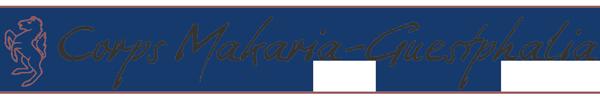 Corps Makaria-Guestphalia Schriftzug